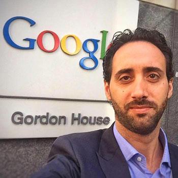 Luigi Sciolti presso la sede Google di Dublino
